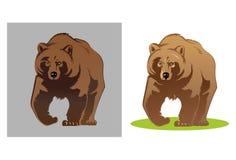 Ilustração de um urso Fotografia de Stock