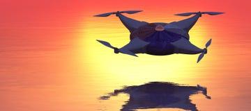 ilustração de um zangão do voo Foto de Stock