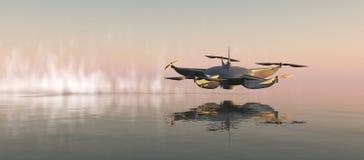 ilustração de um zangão do voo Fotos de Stock Royalty Free