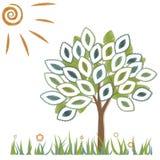 Ilustração de uma árvore ilustração royalty free