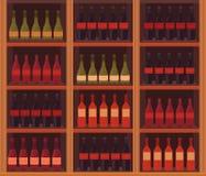 Ilustração de uma adega de vinho Foto de Stock Royalty Free