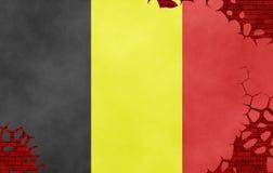 Ilustração de uma bandeira belga Ilustração Royalty Free