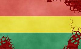 Ilustração de uma bandeira boliviana Ilustração Royalty Free