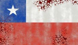 Ilustração de uma bandeira chilena Ilustração Stock