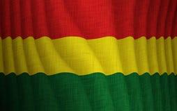Ilustração de uma bandeira do boliviano do voo Ilustração Stock