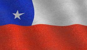 Ilustração de uma bandeira do chileno do voo Ilustração Royalty Free