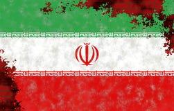 Ilustração de uma bandeira iraniana fotos de stock