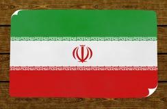 Ilustração de uma bandeira iraniana no mais papier colado na parede arborizado imagens de stock