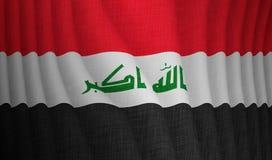 Ilustração de uma bandeira iraniana de voo fotografia de stock royalty free