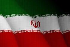 Ilustração de uma bandeira iraniana de voo imagem de stock royalty free