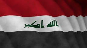 Ilustração de uma bandeira iraquiana de voo fotografia de stock royalty free
