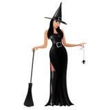 Ilustração de uma bruxa bonito Imagem de Stock