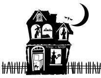 Ilustração de uma casa assombrada Foto de Stock Royalty Free
