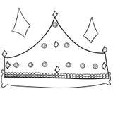 Ilustração de uma coroa Imagens de Stock Royalty Free