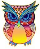 Ilustração de uma coruja do pássaro ilustração royalty free