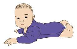 Ilustração de uma criança em um fundo branco imagens de stock