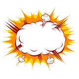 Ilustração de uma explosão em um estilo cômico ilustração stock