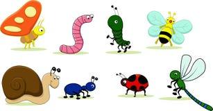 Ilustração de uma família dos insetos Imagem de Stock
