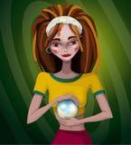 Ilustração de uma menina com dreadlocks Fotografia de Stock Royalty Free