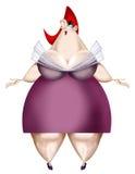 Ilustração de uma mulher gorda Foto de Stock Royalty Free