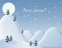 Ilustração de uma paisagem do inverno Imagens de Stock Royalty Free