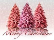Ilustração de uma paisagem nevado do Natal Imagens de Stock