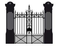 Ilustração de uma porta do ferro forjado ilustração do vetor