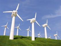 Ilustração de uma turbina eólica na natureza 3d Imagens de Stock Royalty Free