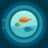 Ilustração de uma vigia do navio Imagem de Stock Royalty Free