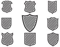 Ilustração de várias formas do protetor Fotografia de Stock Royalty Free