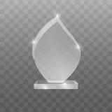 Ilustração de vidro do vetor da concessão do troféu Fotos de Stock Royalty Free