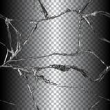Ilustração de vidro quebrada realística Fotos de Stock