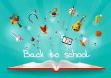 Ilustração de Vvector de volta à escola Fotos de Stock