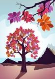 Ilustração decorativa cor-de-rosa da árvore ilustração royalty free