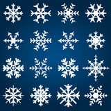 Ilustração decorativa do vetor dos flocos de neve fotos de stock