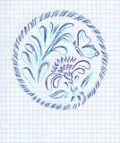 Ilustração decorativa floral Imagens de Stock