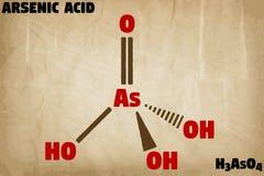 Ilustração detalhada da molécula do ácido de arsênico ilustração stock