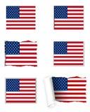 Os EUA embandeiram o grupo ilustração stock