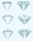 Ilustração diferente do diamante Imagens de Stock