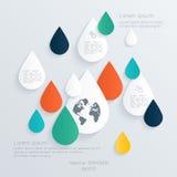 Ilustração digital abstrata Infographic Fotos de Stock Royalty Free