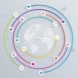 Ilustração digital abstrata Infographic Fotos de Stock