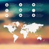 Ilustração digital abstrata Infographic Foto de Stock Royalty Free