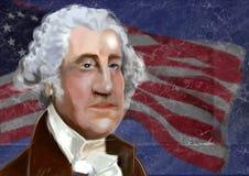 Ilustração digital de George Washington Foto de Stock