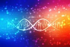 Ilustração digital do ADN no fundo abstrato médico ilustração royalty free