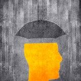 Ilustração digital do conceito da proteção da mente fotografia de stock royalty free