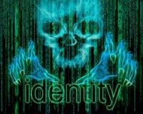 Conceito do roubo de identidade Fotos de Stock