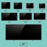 Ilustração digital do vetor da exposição do dispositivo da tecnologia do dispositivo eletrónico do molde do monitor do lcd da tel ilustração royalty free
