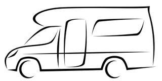 Ilustração dinâmica do vetor de uma caravana para os viajantes que podem ser usados para muitas aventuras ilustração royalty free