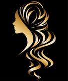Ilustração do ícone da silhueta das mulheres ilustração royalty free