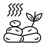 Ilustração do ícone das pedras dos termas ilustração royalty free
